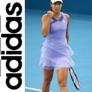 adidas Dresses - Adidas clima365 purple ruffle tiered tennis dress